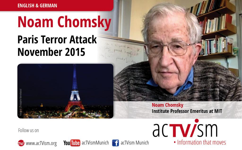 Noam Chomsky Paris Actvism
