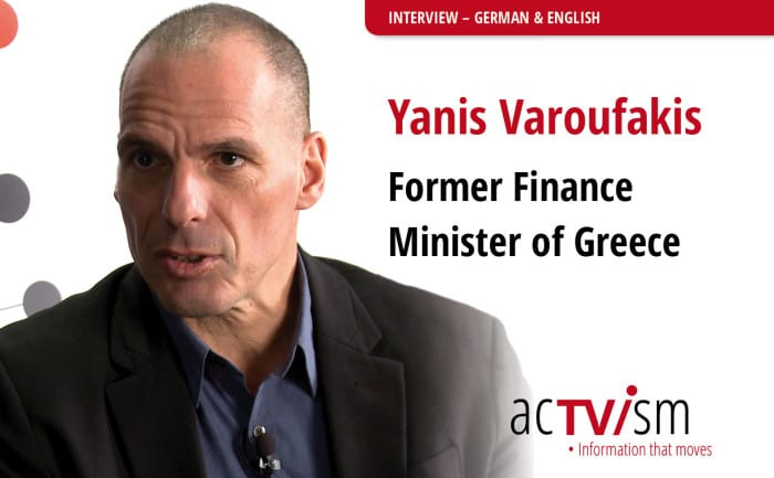 Yanis Varoufakis talks acTVism Munich whether he thinks capitalism is reformable.