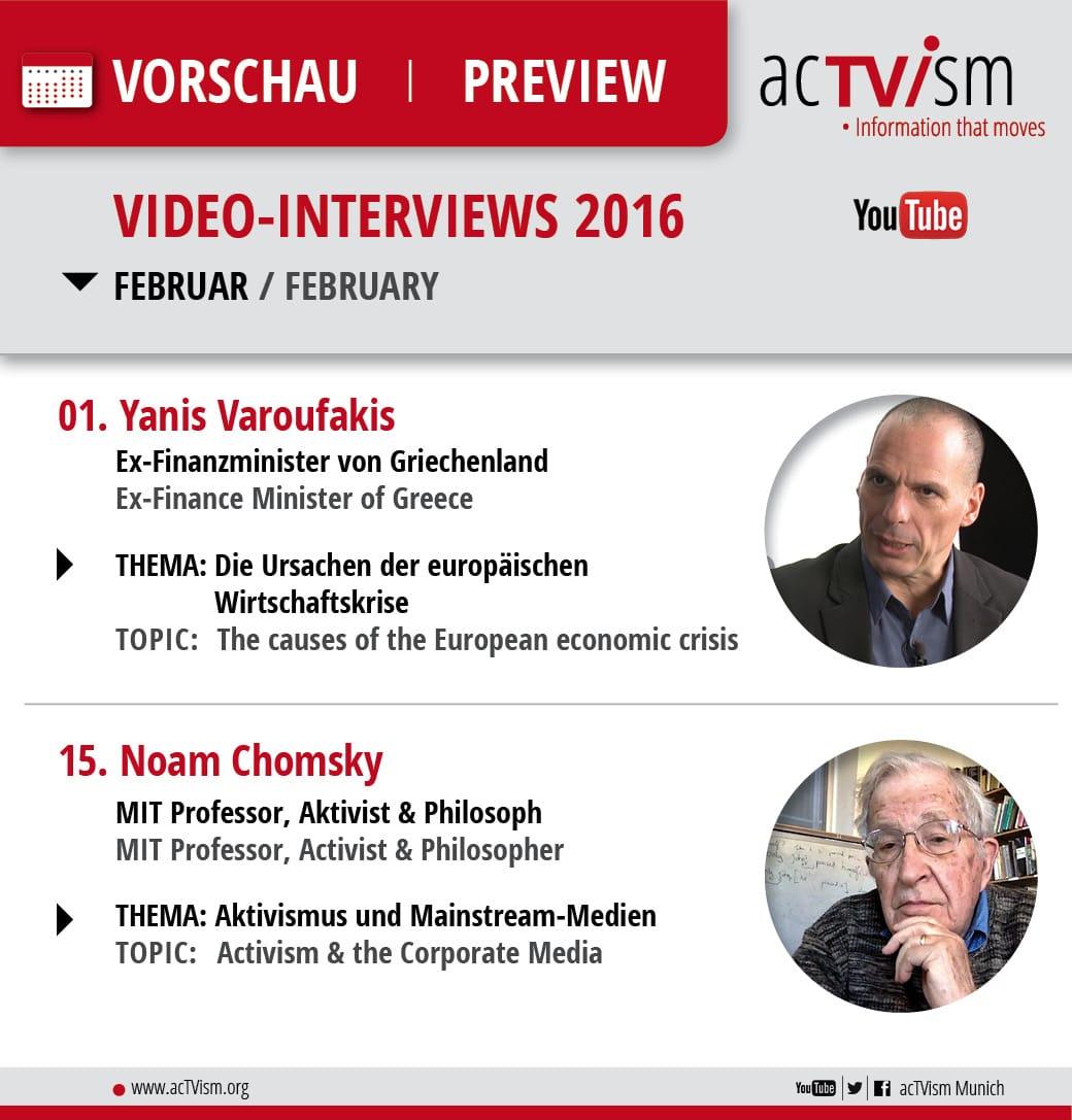 acTVism Online TV Programm with Noam Chomsy & Yanis Varoufakis