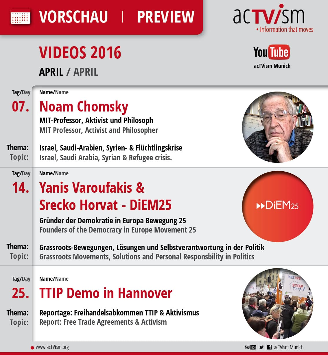 Online TV Programm April 2016