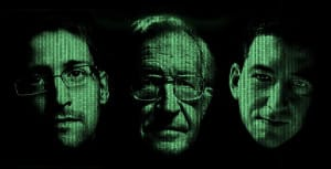 The discussion between Edward Snowden, Noam Chomsky and Glenn Greenwald will be translated into the German language.