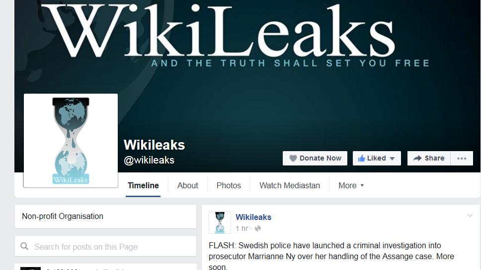 Wikileaks Facebook