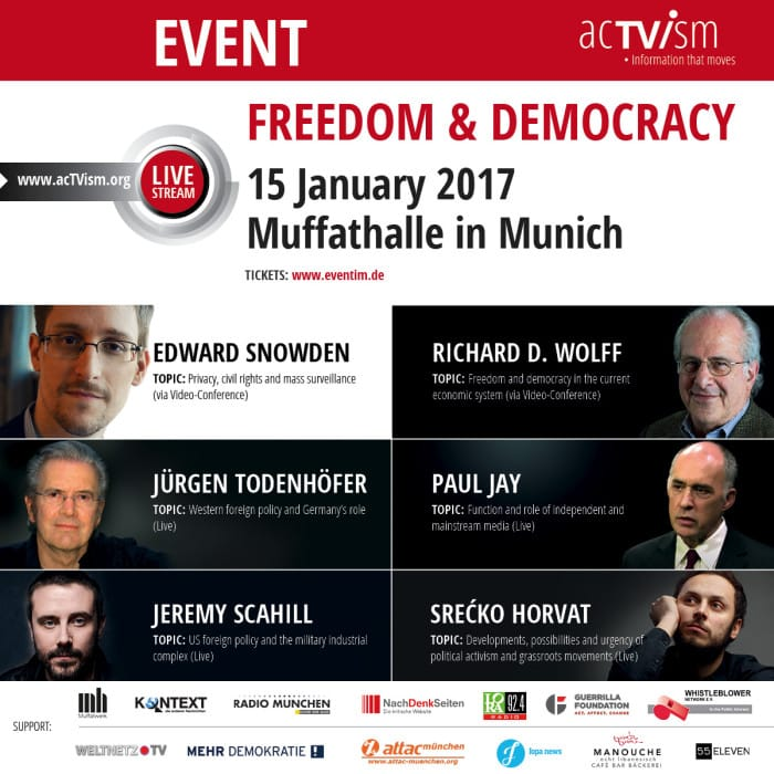 Edward Snowden Event Munich