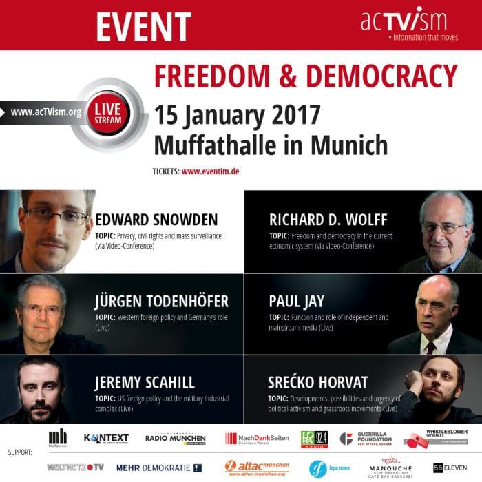 Edward Snowden Event Munich