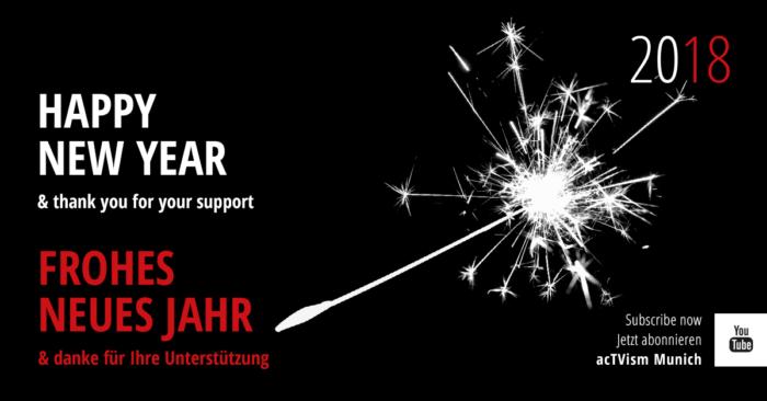 acTVism Munich wünscht Ihnen ein frohes neues Jahr!