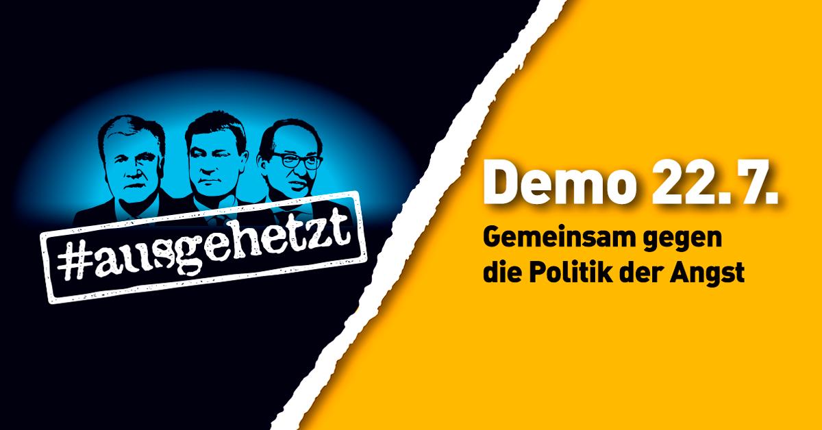 Heike Martin Veranstaltungstipp: Demo am 22.07 – Gemeinsam gegen die Politik der Angst | Von Initiative Gemeinsam für Menschenrechte und Demokratie