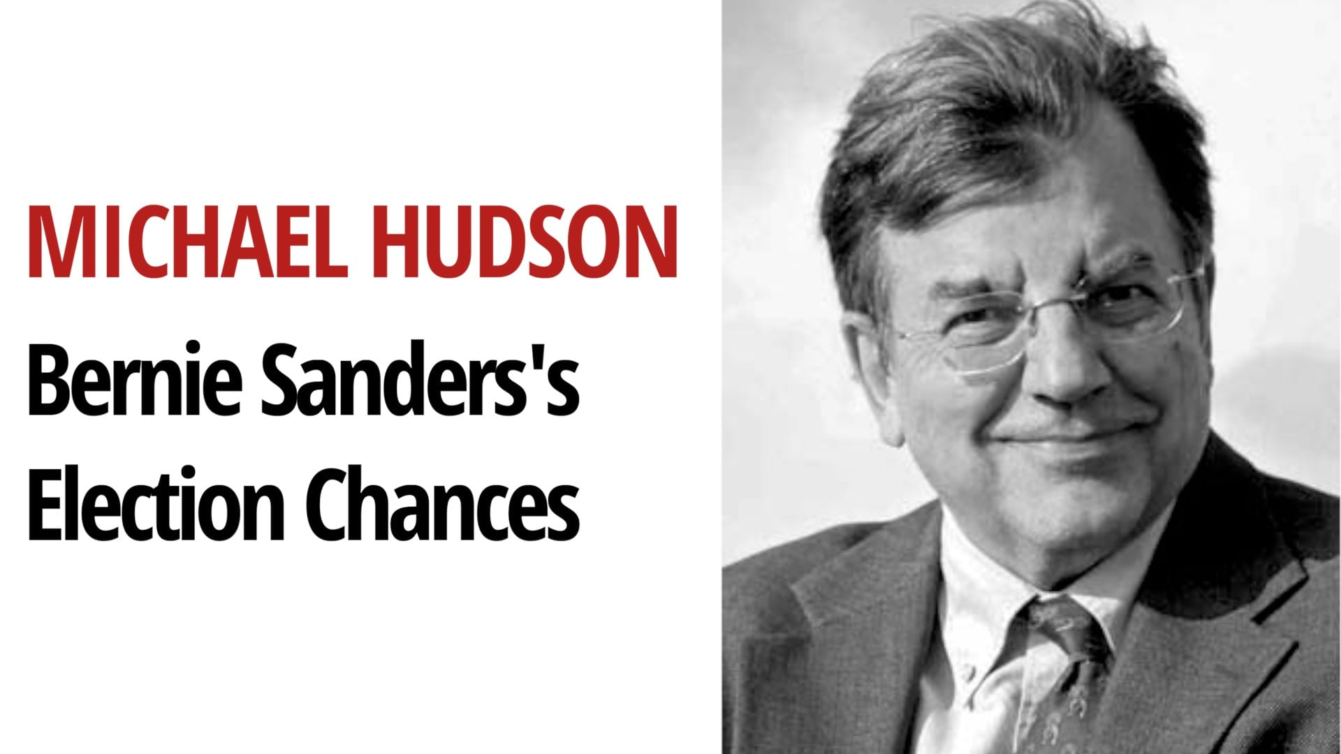 Michael Hudson Bernie Sanders