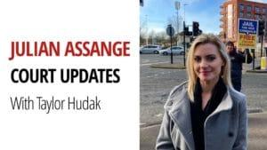 Taylor Hudak Fall Julian Assange Court