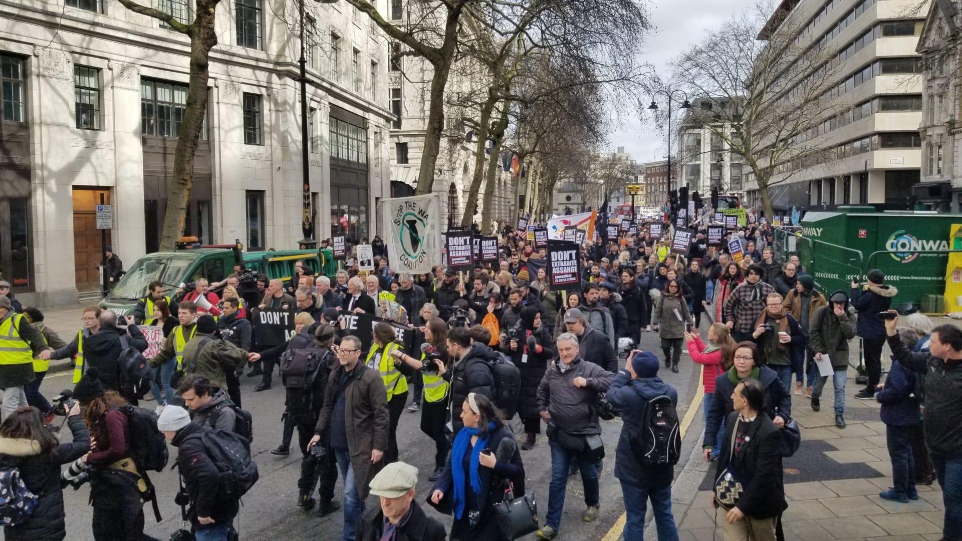 Julian Assange Protest London