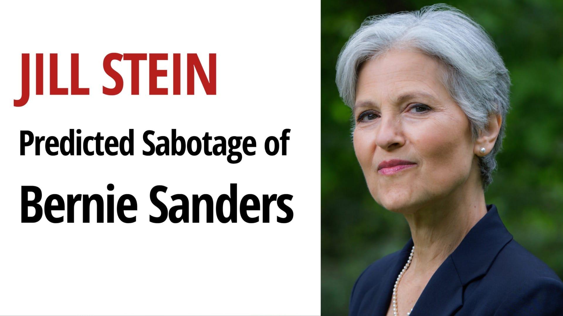 Jill Stein Bernie Sanders