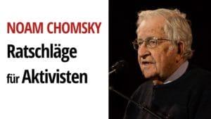 noam chomsky aktivismus