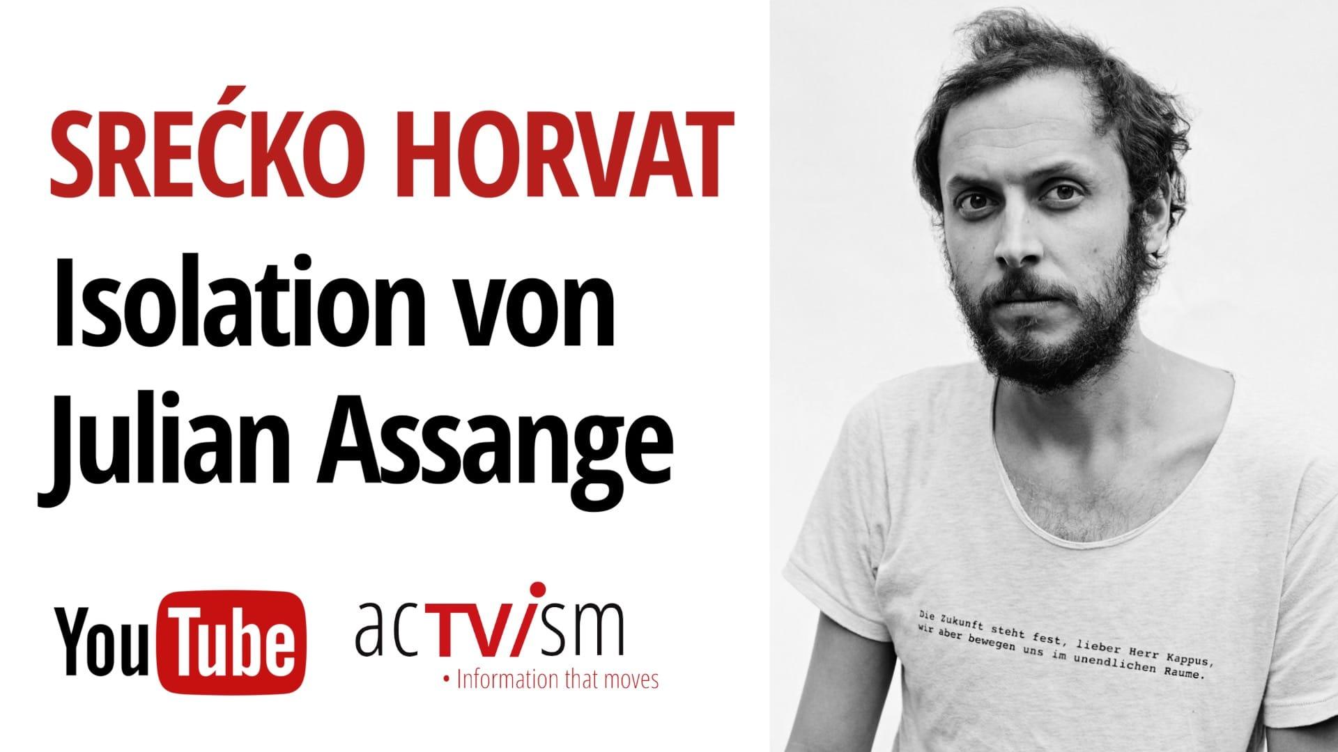 Srećko Horvat Julian Assange