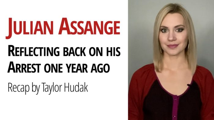 Taylor Hudak Assange Arrest Chris Hedges Daniel Ellsberg