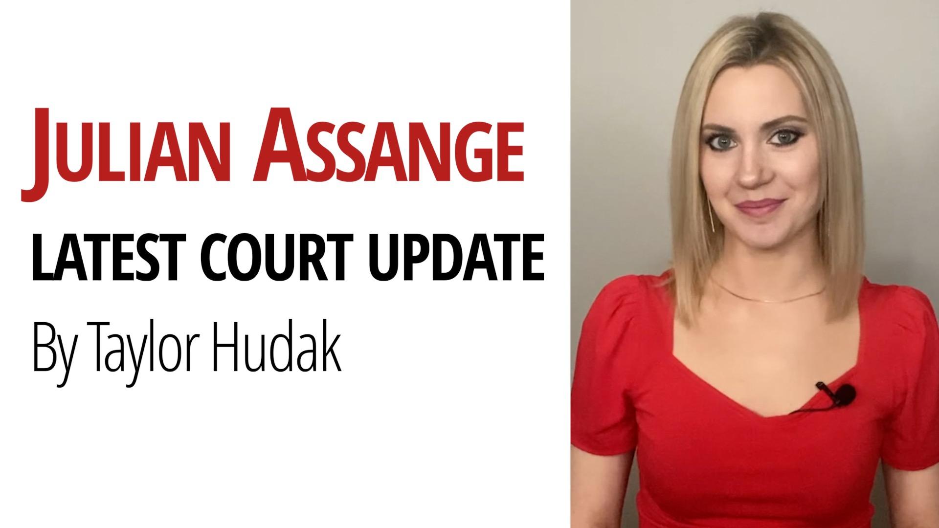 Julian Assange Hearing Taylor Hudak