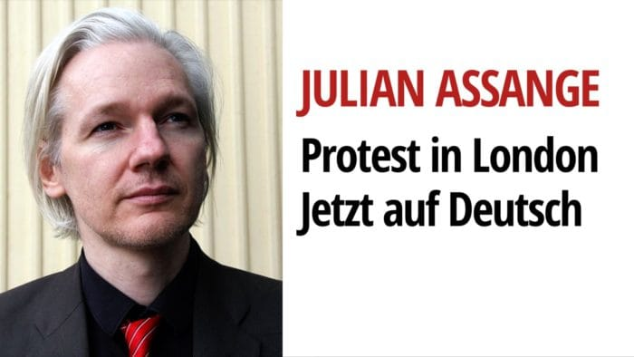 Julian Assange Protest wikileaks