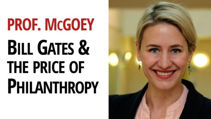 Linsey McGoey Bill Gates Philanthropy