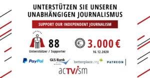 acTVism Crowdfunding Update