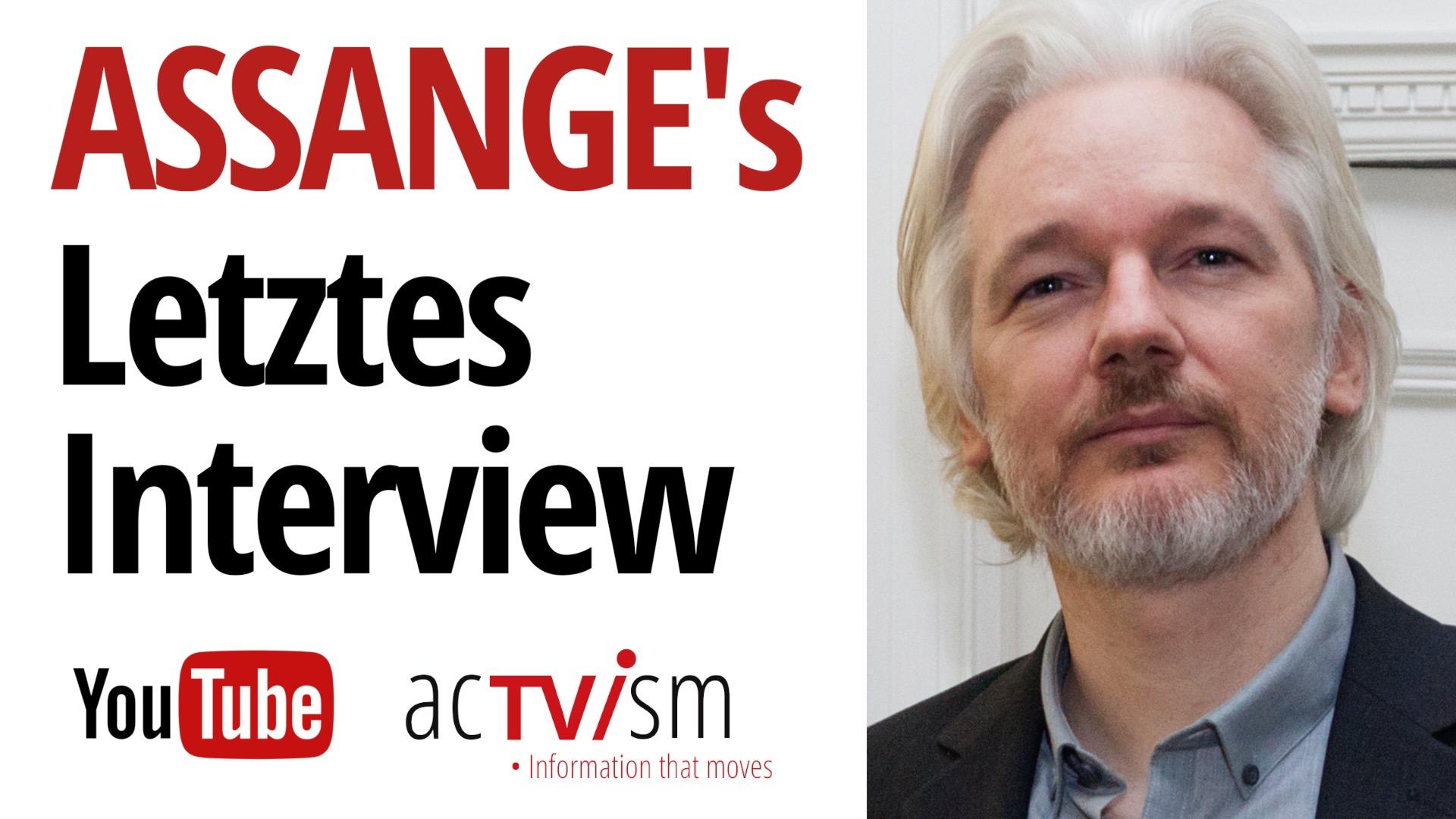 Julian Assange's letztes Interview