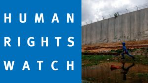 Interview with Human Rights Watch: Israel committing crimes of apartheid