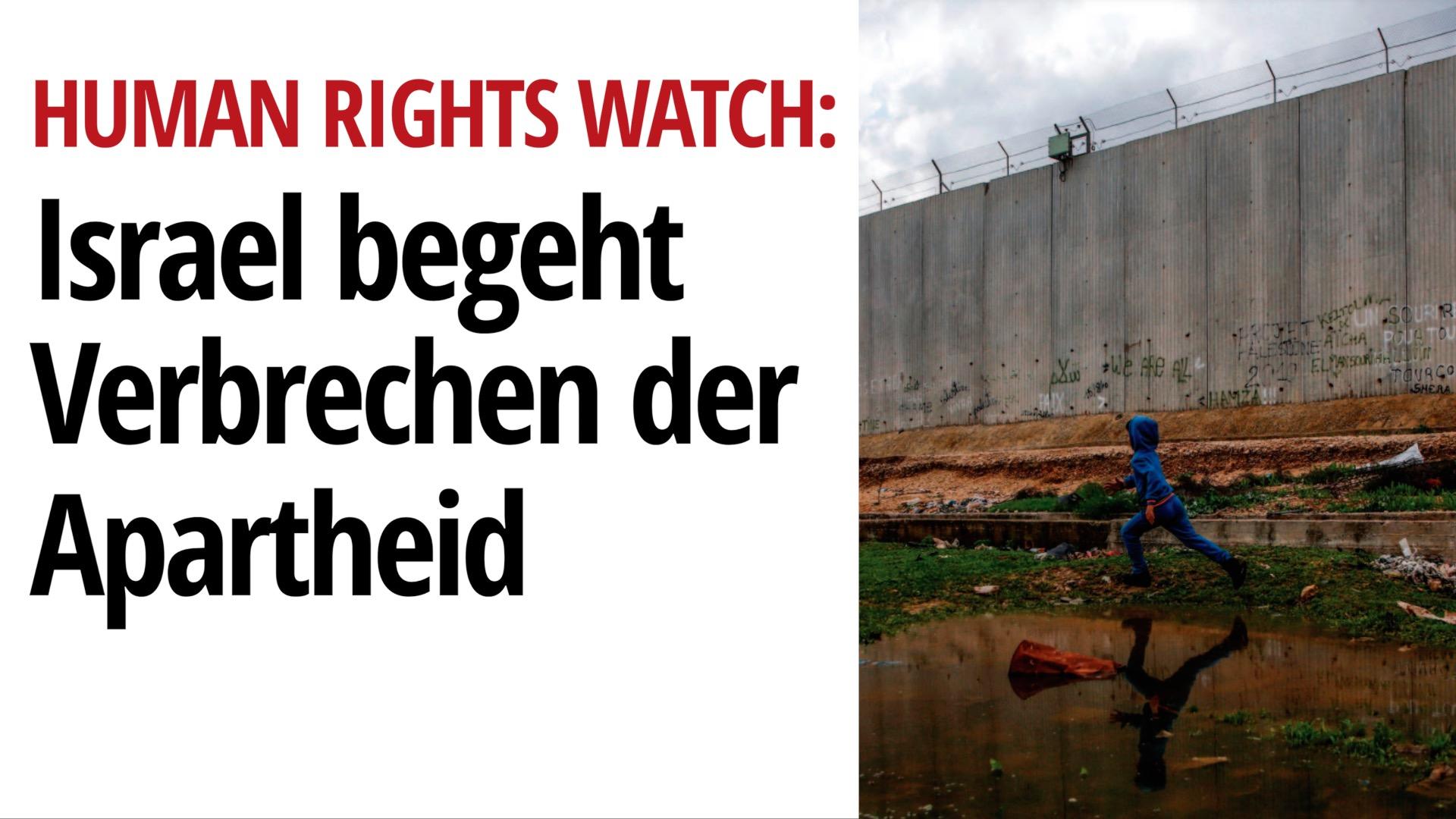 Israel begeht Verbrechen der Apartheid | Interview mit Human Rights Watch